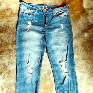 Sneak Peek Distressed Boyfriend Jeans